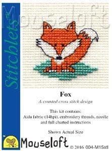 Mouseloft Fox Stitchlets cross stitch kit